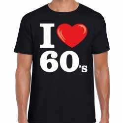 I love 60s / sixties t shirt zwart heren
