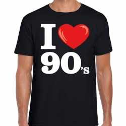 I love 90s / nineties t shirt zwart heren