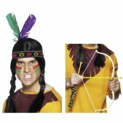 Indianen accessoires verkleedset hoofdband pijl boo