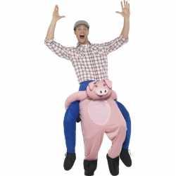Instap dierenpak kleding varken feest volwassenen