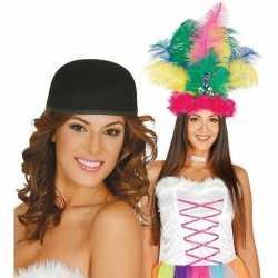 Knutsel materiaal basic zwart hoedje feest volwassenen