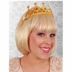Koningin tiara goud feest dames