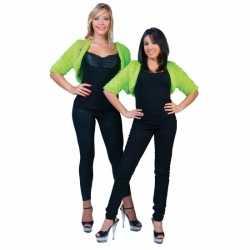 Kort groen pluche jasje feest dames