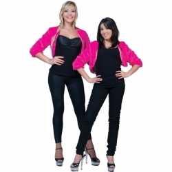 Kort roze pluche jasje feest dames