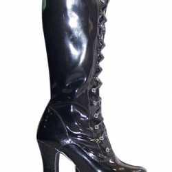 Lak laarzen zwart volwassenen