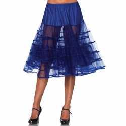 Lange kobalt blauwe 50s onderrok feest dames