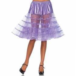 Lange paarse 50s onderrok feest dames
