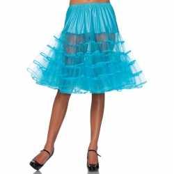 Lange turquoise 50s onderrok feest dames