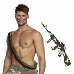 Leger accessoires verkleedset kogelriem geweer