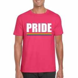 Lgbt shirt roze pride heren