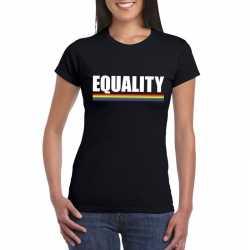 Lgbt shirt zwart equality dames