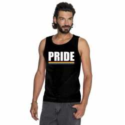 Lgbt singlet shirt/ tanktop zwart pride heren