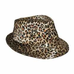 Luipaard afgebeeld hoeden