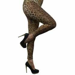 Luipaard legging feest dames