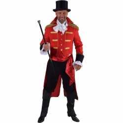 Luxe circus directeur kleding rood feest heren