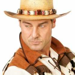 Luxe cowboy hoed feest heren kralenketting
