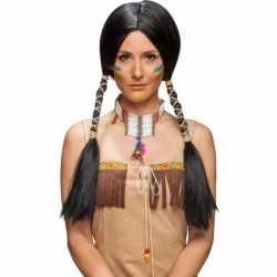 Luxe indianen pruik feest dames