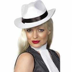 Luxe witte Carnavals gangster hoeden