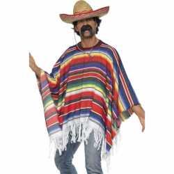 Mexicaanse poncho feest volwassenen