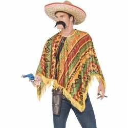 Mexicaanse poncho snor feest heren