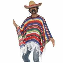 Mexicaanse poncho sombrero