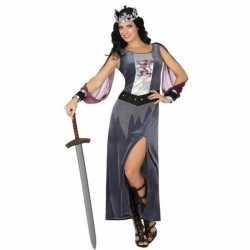 Middeleeuwse koningin victoria verkleed kleding/jurk feest dames