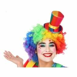Mini hoge clownshoed verkleed accessoire feest volwassenen