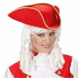Musketier hoed rood vilt