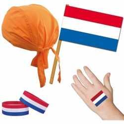 Nederland/holland thema verkleed set feest volwassenen