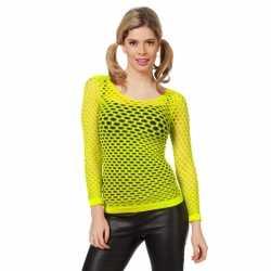 Neon gele net shirts