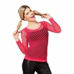 Neon roze net shirts