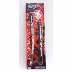 Ninja zwaard in zwarte schede 45 centimeter