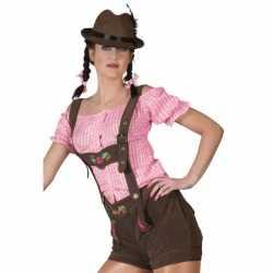 Oktoberfest bruine lederhosen feest dames
