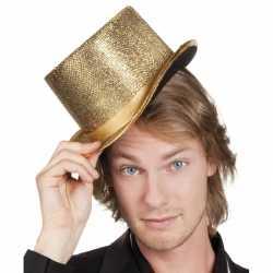 Party hoed hoog gouden glinsters