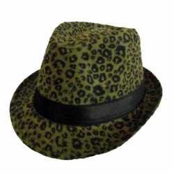 Party hoedjes donkergroene panter afgebeeld