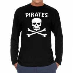 Pirates long sleeve t shirt zwart feest heren