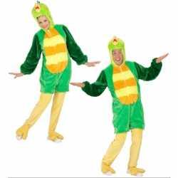 Pluche groene vogel kleding