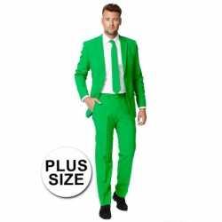 Plus size heren kleding groen