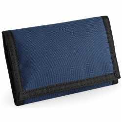 Portemonnee/portefeuille navy blauw 13 centimeter
