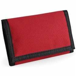 Portemonnee/portefeuille rood 13 centimeter