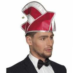 Prins carnavals muts rood/wit feest heren
