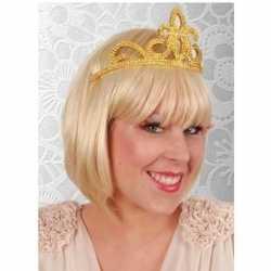 Prinses tiara goud feest dames
