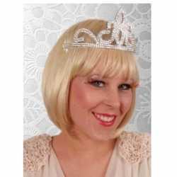 Prinses tiara zilver feest dames