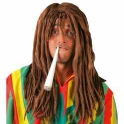 Reggae rasta verkleedpruik feest mannen