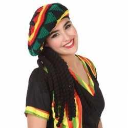 Reggae verkleed muts dreadlocks feest volwassenen