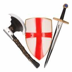 Ridder zwaard, bijl schild