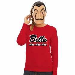 Rode bella ciao sweater la casa de papel masker dames