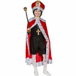 Rode konings mantel feest kinderen