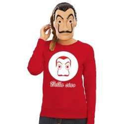 Rode salvador dali sweater la casa de papel masker dames