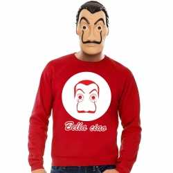 Rode salvador dali sweater la casa de papel masker heren